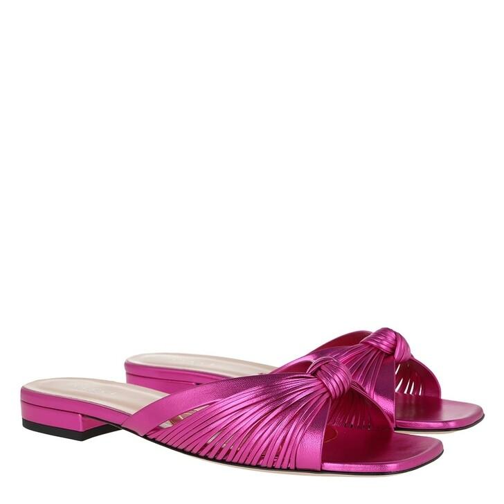 shoes, Gucci, Metallic Slide Leather Fuchsia