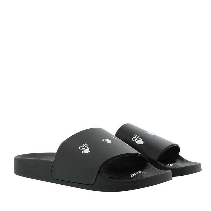 Schuh, Off-White, Swimming Slides Black White
