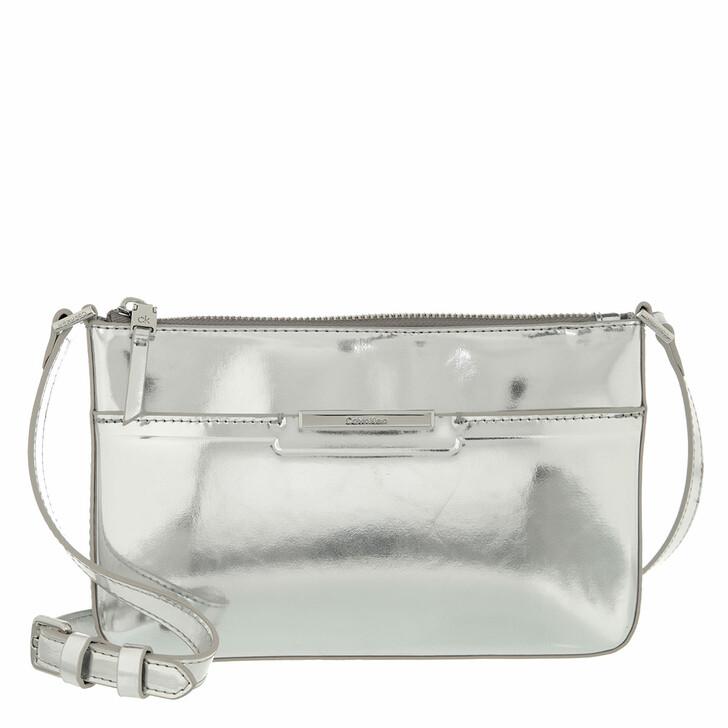 bags, Calvin Klein, Focused Ew Xbody Silver Silver