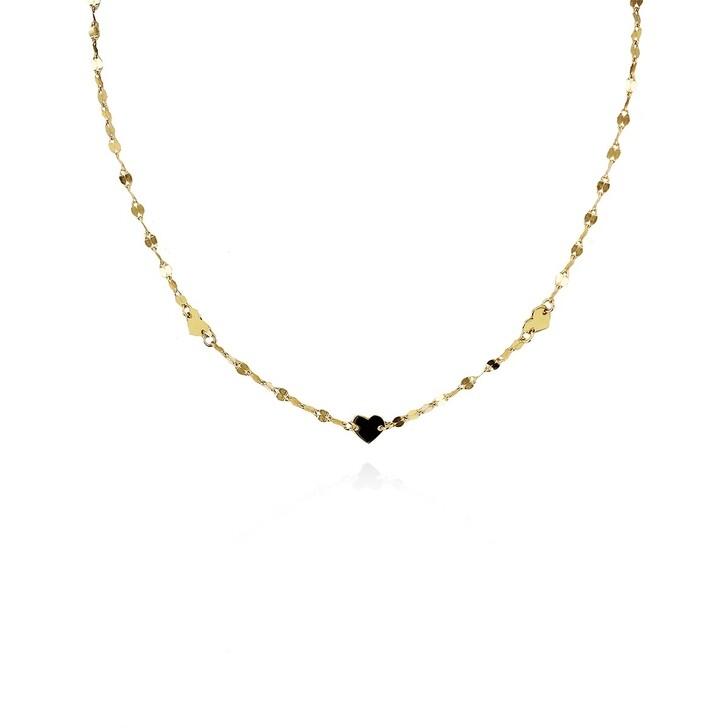 Kette, LOTT.gioielli, Necklace Pailletes S Hearts Gold