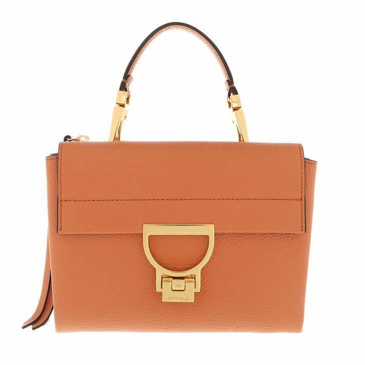 bags, Coccinelle, Arlettis Handbag Grainy Leather  Chestnut