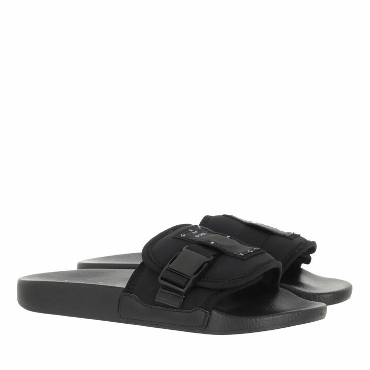 shoes, McQ, Ic0 Slide Black