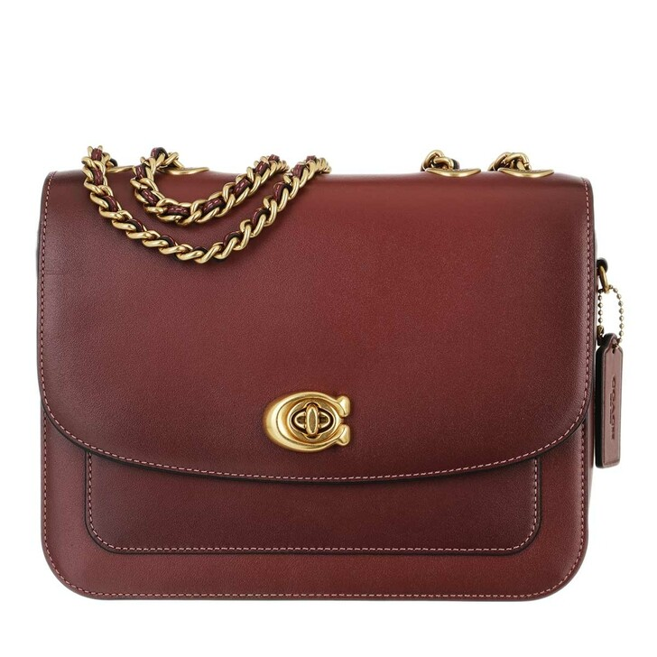 Handtasche, Coach, Refined Calf Leather Madison Shoulder Bag Wine