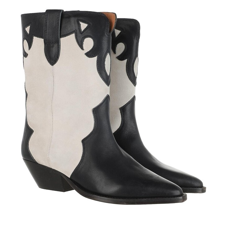 Schuh, Isabel Marant, Ankle Boots Chalk/Black