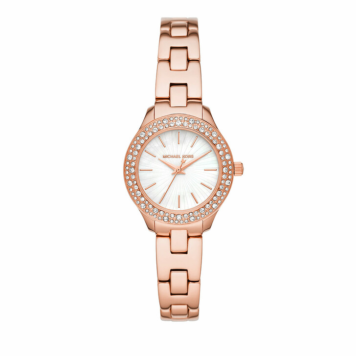 Uhr, Michael Kors, Liliane Three-Hand Stainless Steel Watch Rosegold