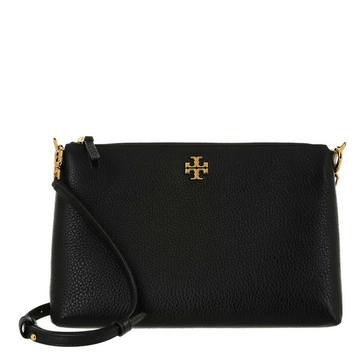 Handtasche, Tory Burch, Kira Pebbled Top-Zip Crossbody Black