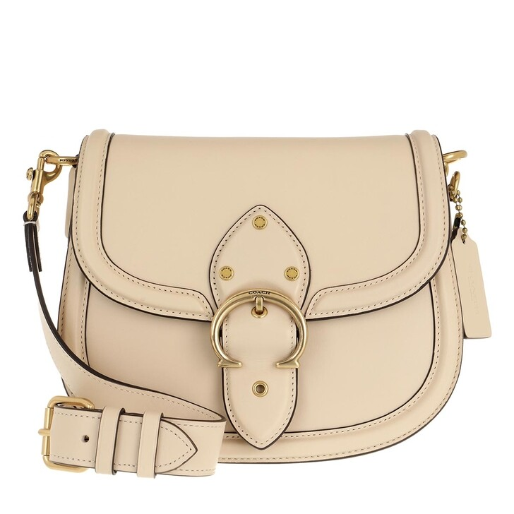 Handtasche, Coach, Glovetanned Leather Beat Saddle Bag B4/Ivory