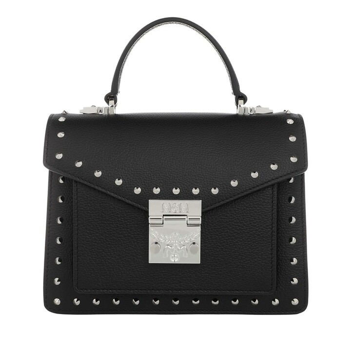 Handtasche, MCM, Patricia Satchel Small Black