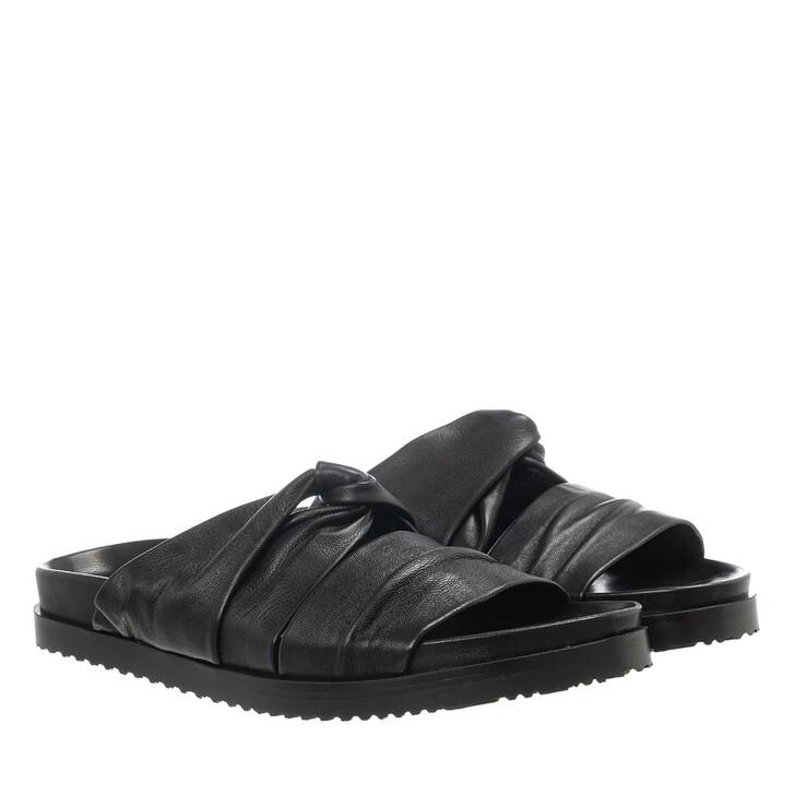 Schuh, 3.1 Phillip Lim, Twisted Leather Pool Slide Black