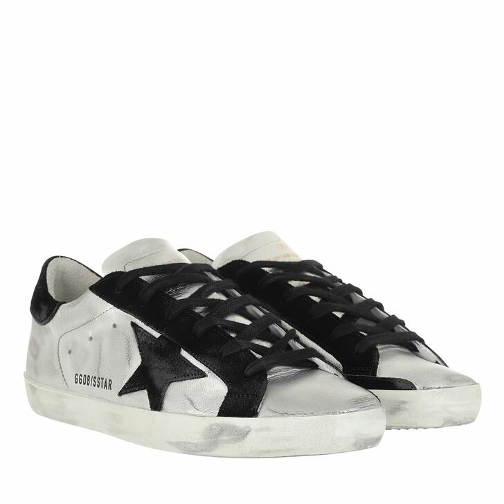 Schuh, Golden Goose, Superstar Sneakers Silver/Black