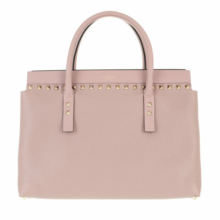 Handtasche, Valentino Garavani, Rockstud Handle Bag Leather Nude