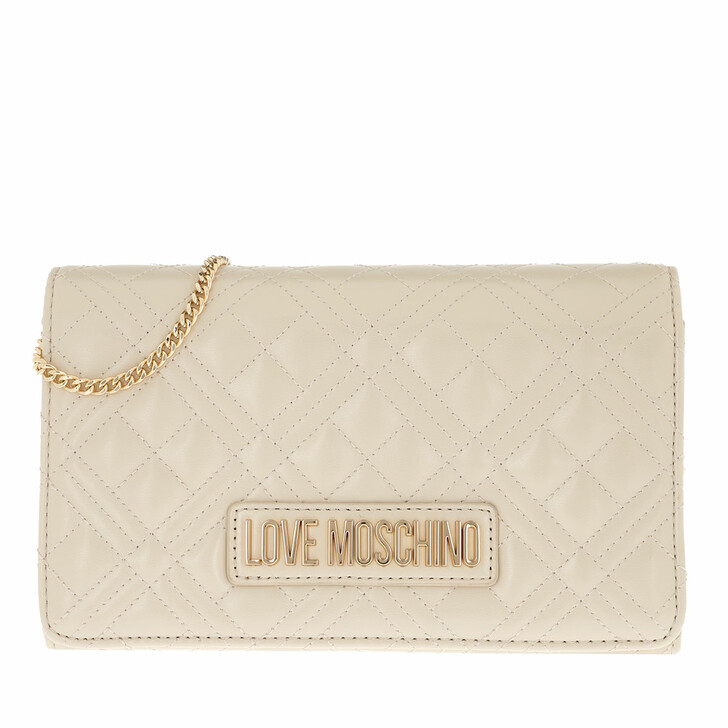 Handtasche, Love Moschino, Chain Crossbody Bag Quilted Nappa   Avorio
