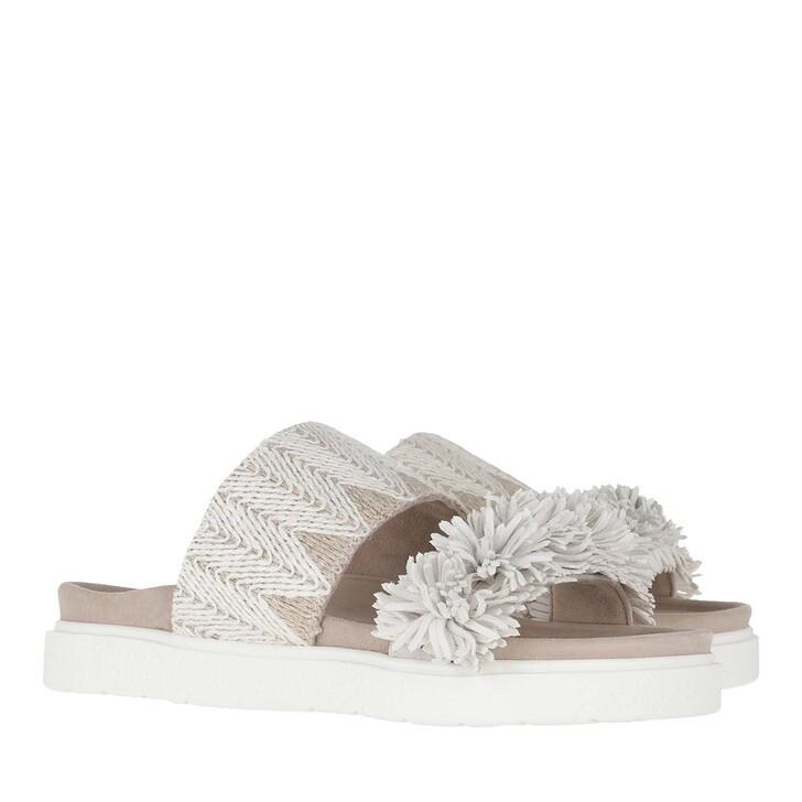 Schuh, INUIKII, Raffia Sandals White