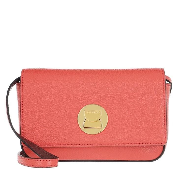 bags, Coccinelle, Mini Liya Coral Red/Marsala