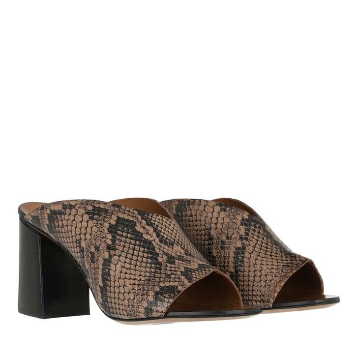 Schuh, ATP Atelier, Licola Printed Snake Sandals Brown