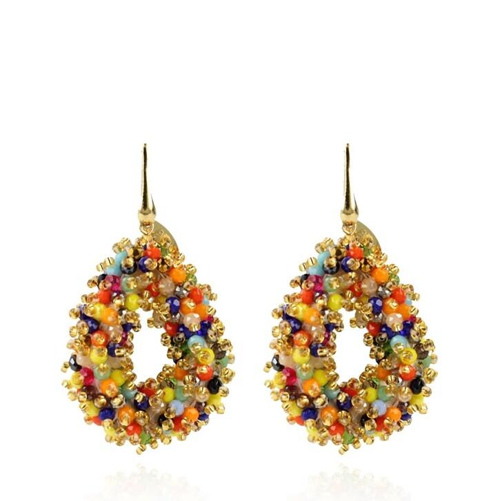 Ohrring, LOTT.gioielli, Drop S Double Stones Earrings Multicolor Dark