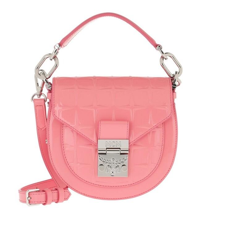 Handtasche, MCM, Patricia Diamond Patend Shoulder Bag Mini Salmon Rose