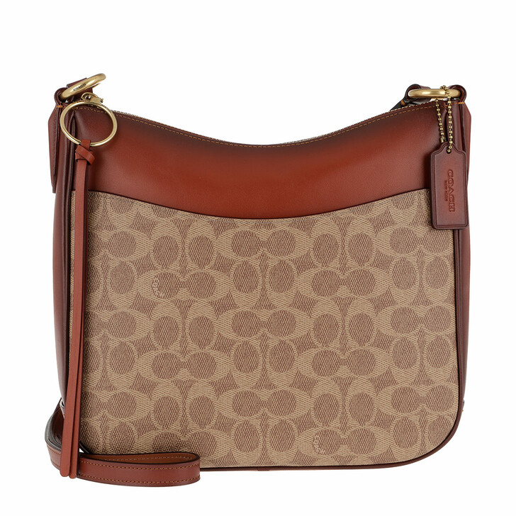 Handtasche, Coach, Canvas Signature Chaise Crossbody Bag Tan Rust