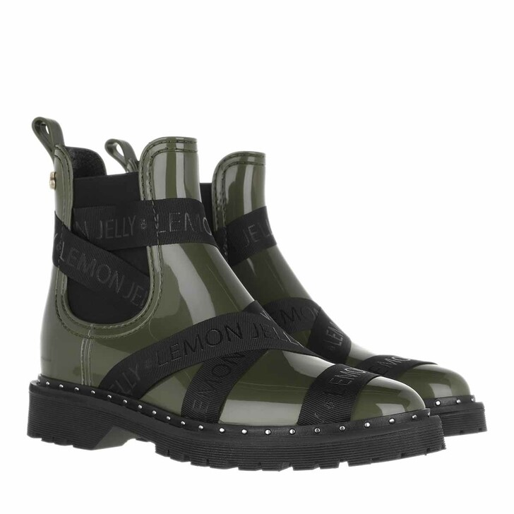 shoes, Lemon Jelly, Frankie  Boots Military Green