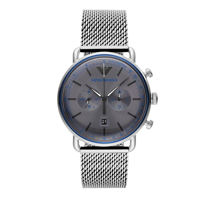 Uhr, Emporio Armani, Chronograph Stainless Steel Watch Silver