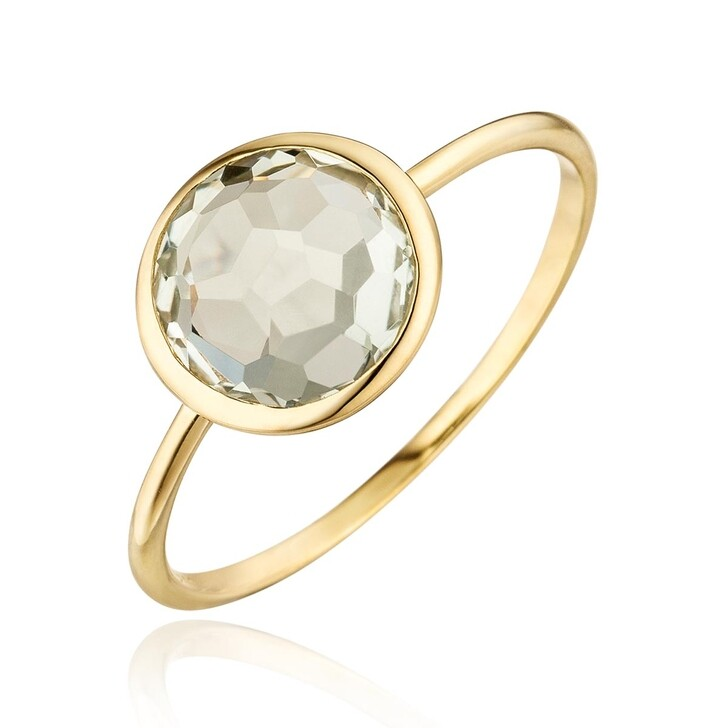 Ring, Leaf, Ring 14K Green Amethyst Gold