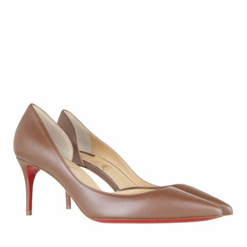 christian louboutin -  Pumps & High Heels - Iriza 70MM Pumps Calfskin Leather - in beige - für Damen