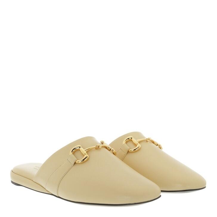 Schuh, Gucci, Slipper Leather Beige