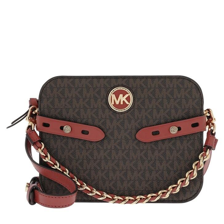 Handtasche, MICHAEL Michael Kors, Carmen Large Camera Crossbody Bag Terracotta