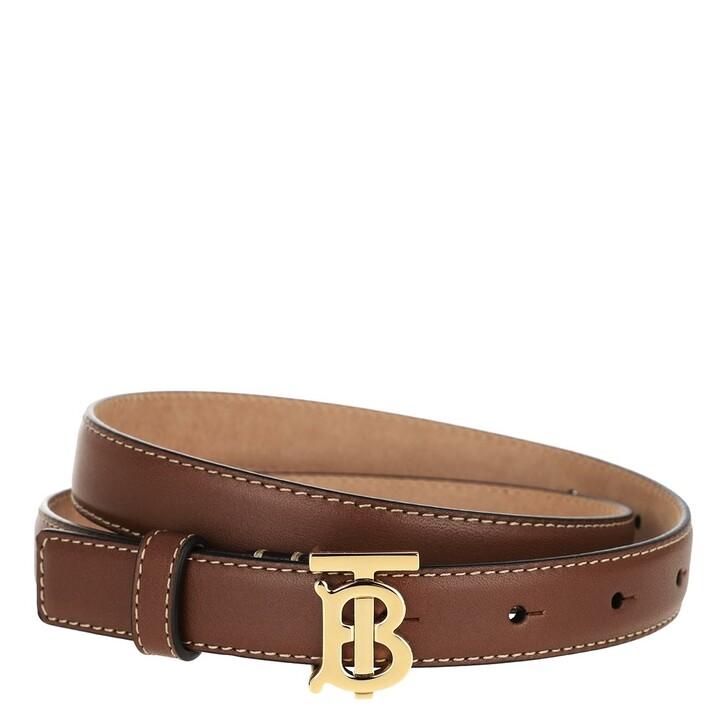 Gürtel, Burberry, Monogram Motif Buckle Belt Leather Brown
