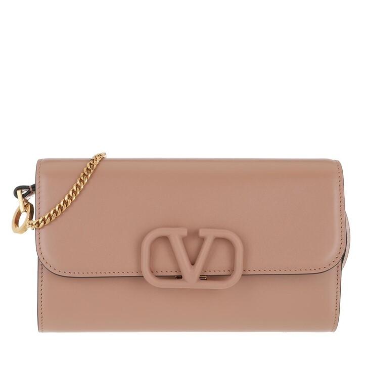 Handtasche, Valentino Garavani, V Sling Clutch Leather Nude