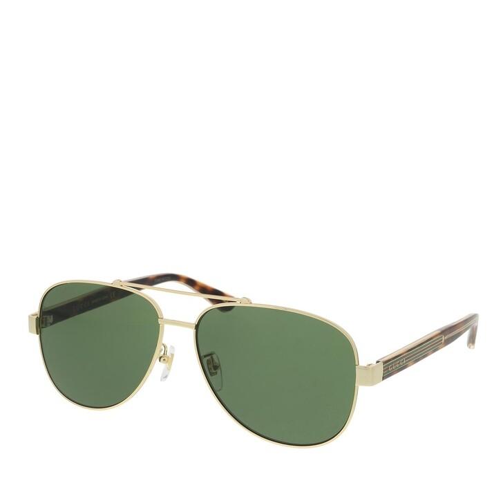 Sonnenbrille, Gucci, GG0528S-004 60 Sunglass MAN METAL GOLD