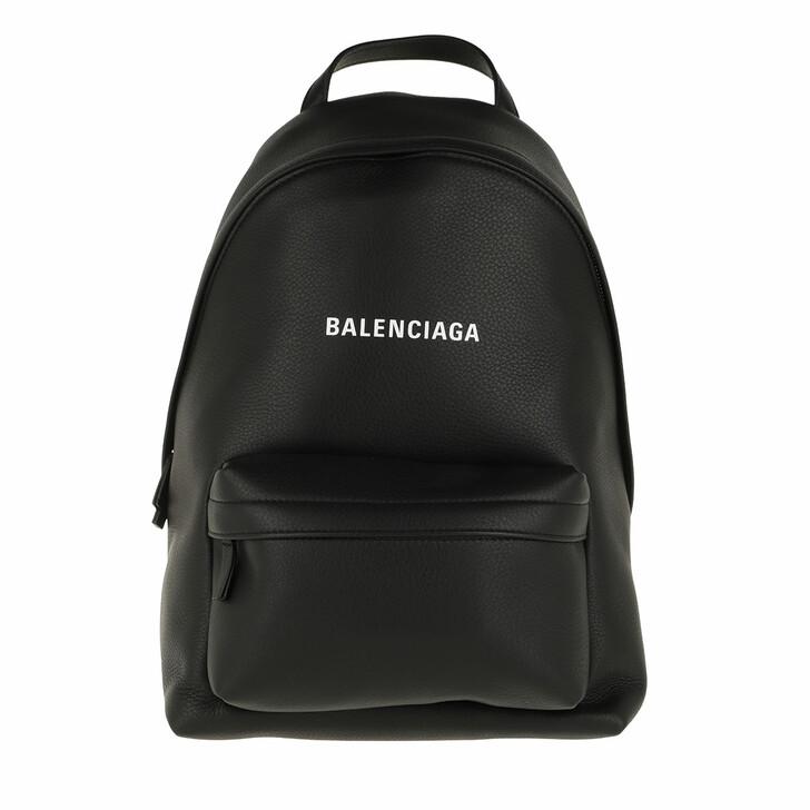 Reisetasche, Balenciaga, Everyday Backpack Small Leather Black/White