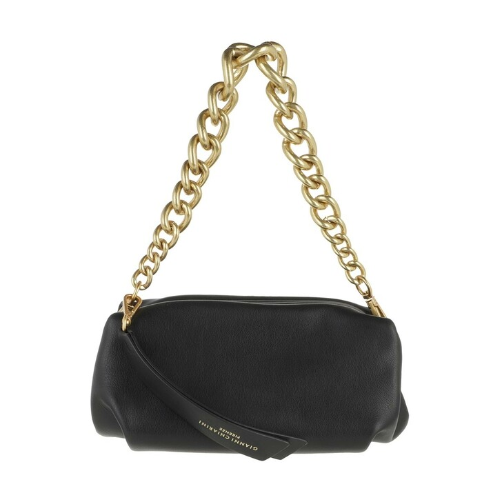 Handtasche, Gianni Chiarini, Rigid Snap Clutch Leather Black