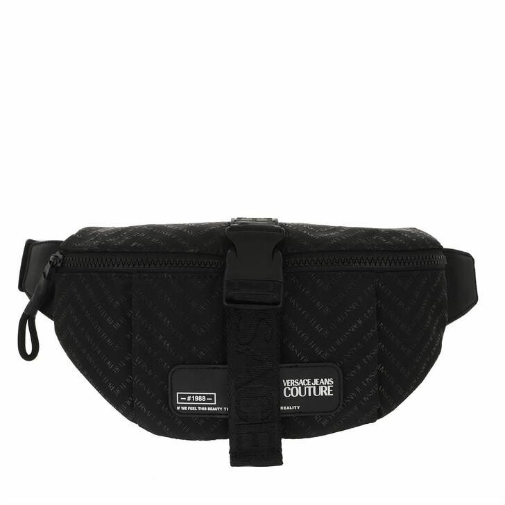 Handtasche, Versace Jeans Couture, Men Chevron Belt Bag Black