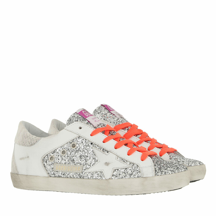 shoes, Golden Goose, Superstar Sneakers Silver/White/Ice