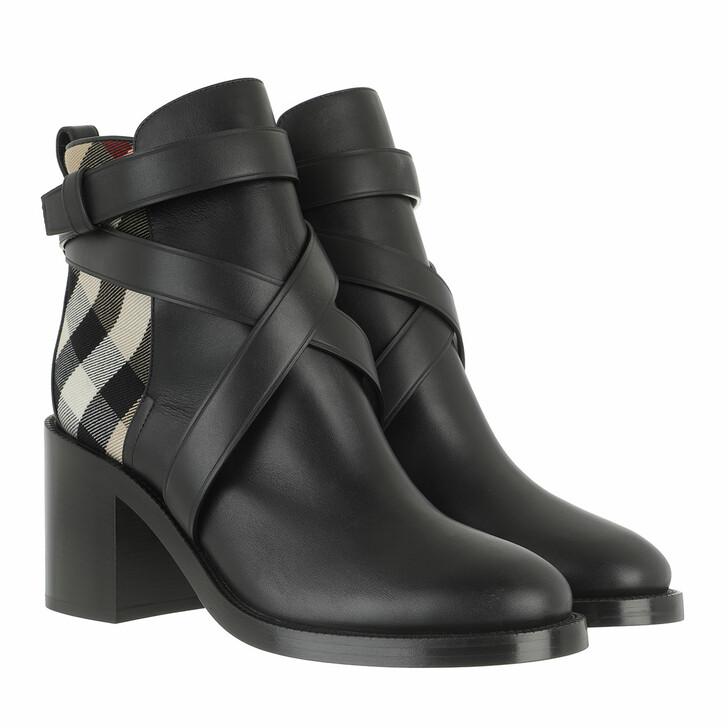 shoes, Burberry, Ankle Boots Vintage Check Black/Archive Beige