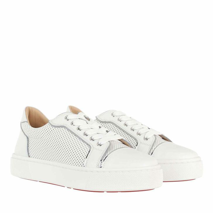 shoes, Christian Louboutin, Vieirissima Sneaker Calfskin Leather White
