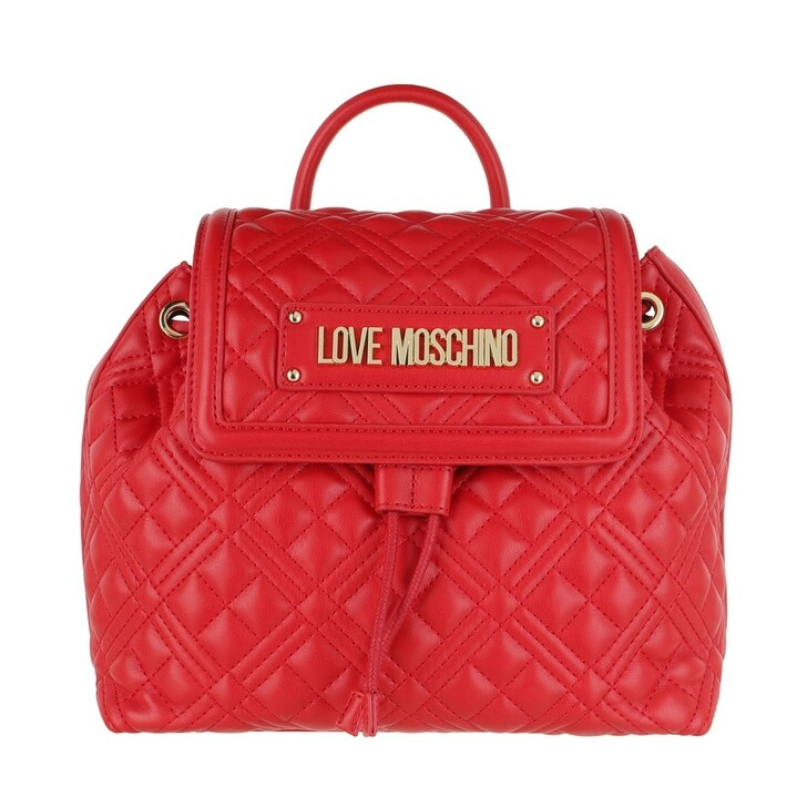 bags, Love Moschino, Borsa Quilted Nappa Pu Rosso