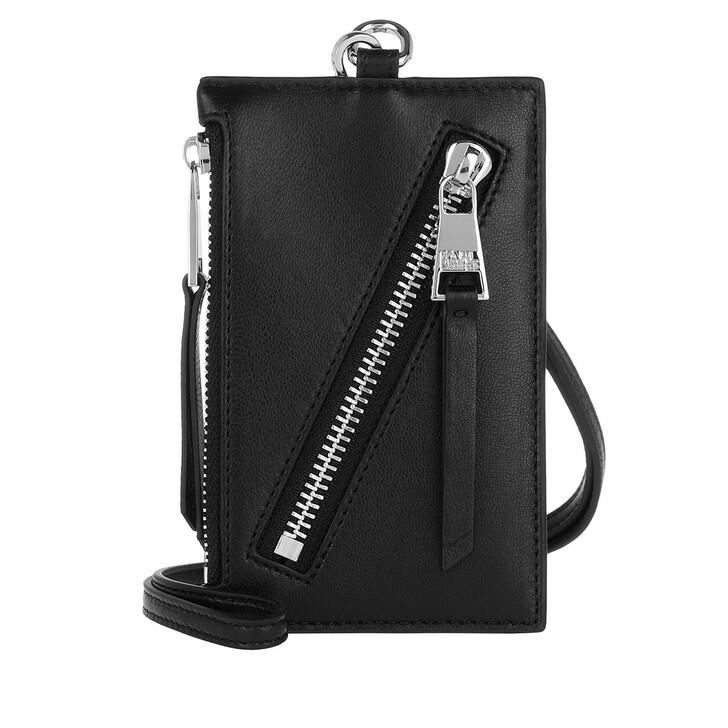 wallets, Karl Lagerfeld, Odina Badge Holder Black