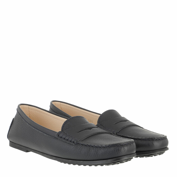 Schuh, Tod's, Gommino Loafers Nubuck Dark Blue