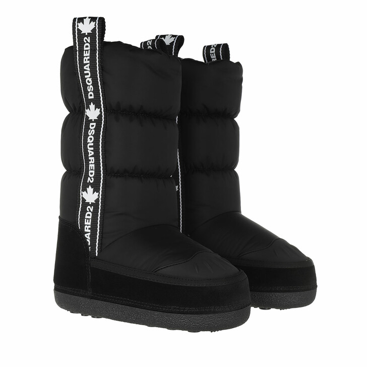 Schuh, Dsquared2, Logo Tape Snow Boots Black