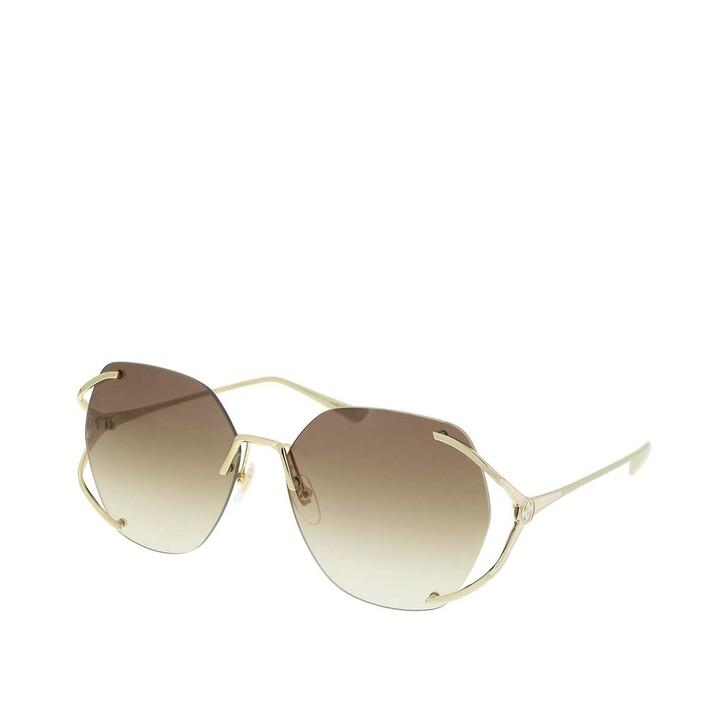 sunglasses, Gucci, GG0651S-003 59 Sunglass WOMAN METAL Gold