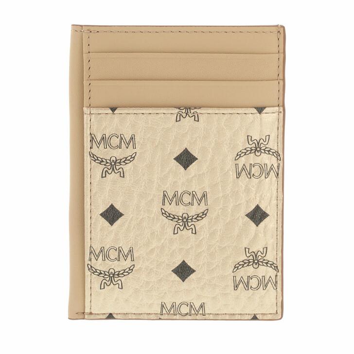 wallets, MCM, Visetos Original New N/S Card Case Berlin Gold