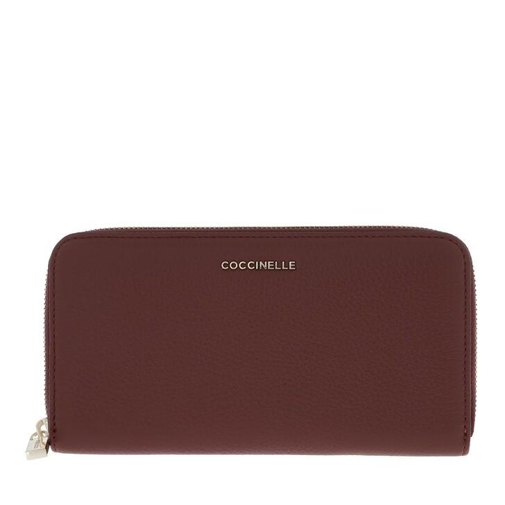 Geldbörse, Coccinelle, Metallic Soft Wallet Leather  Marsala