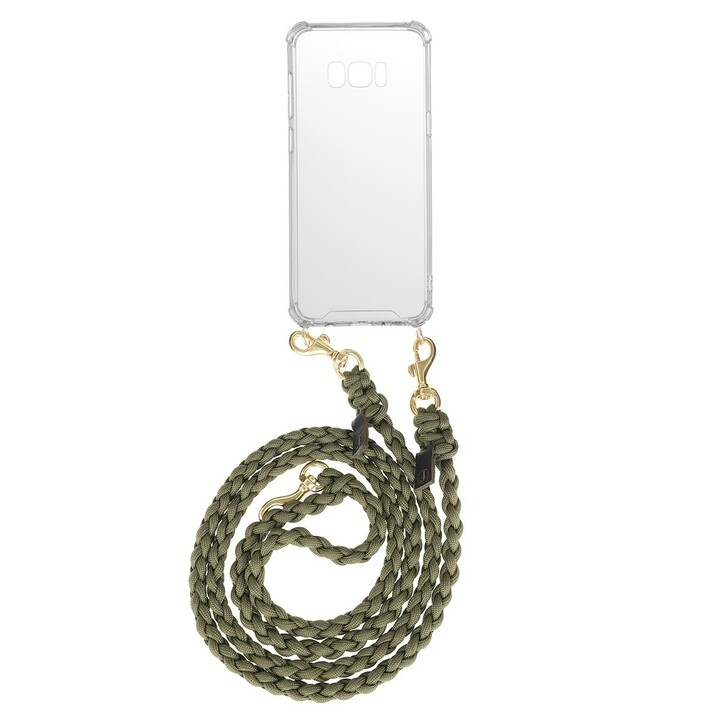Smartphone/Tablet case (Case), fashionette, Smartphone Galaxy S8 Plus Necklace Braided Olive