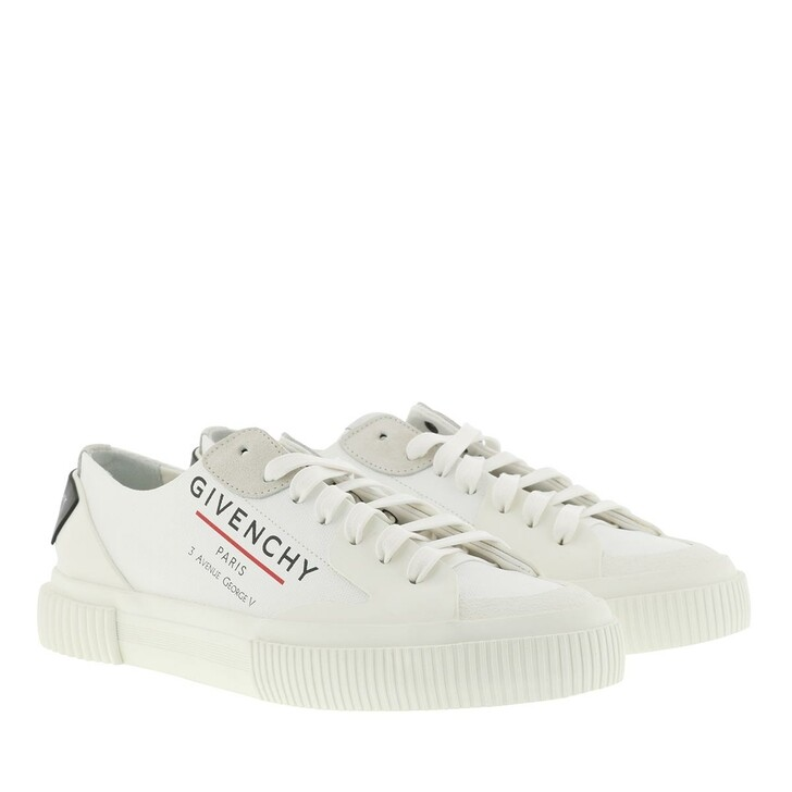Schuh, Givenchy, Tennis Light Sneakers Canvas White