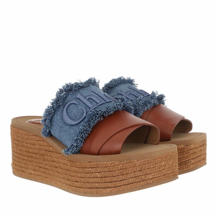 shoes, Chloé, Sandals Deep Denim