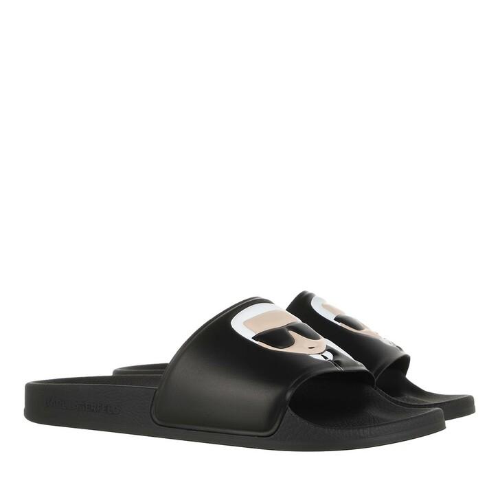 Schuh, Karl Lagerfeld, KONDO II Ikonic Slide Black Rubber