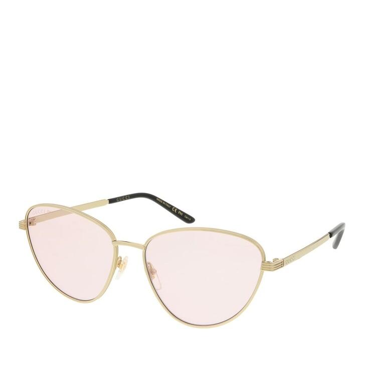 sunglasses, Gucci, GG0803S-005 58 Sunglass Woman Photocromatic Lens & Blue Blocker Gold-Pink