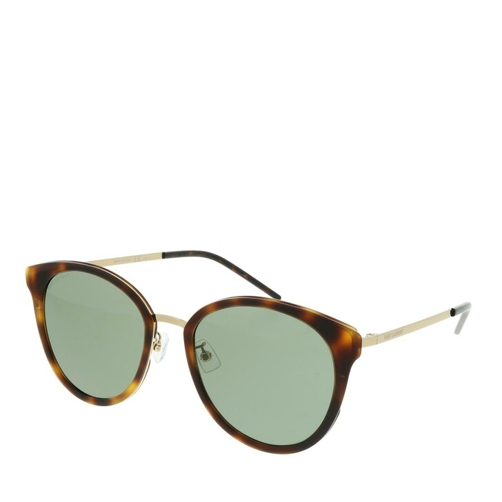 Sonnenbrille, Saint Laurent, SL 446/F SLIM-003 55 Sunglasses Woman Gold
